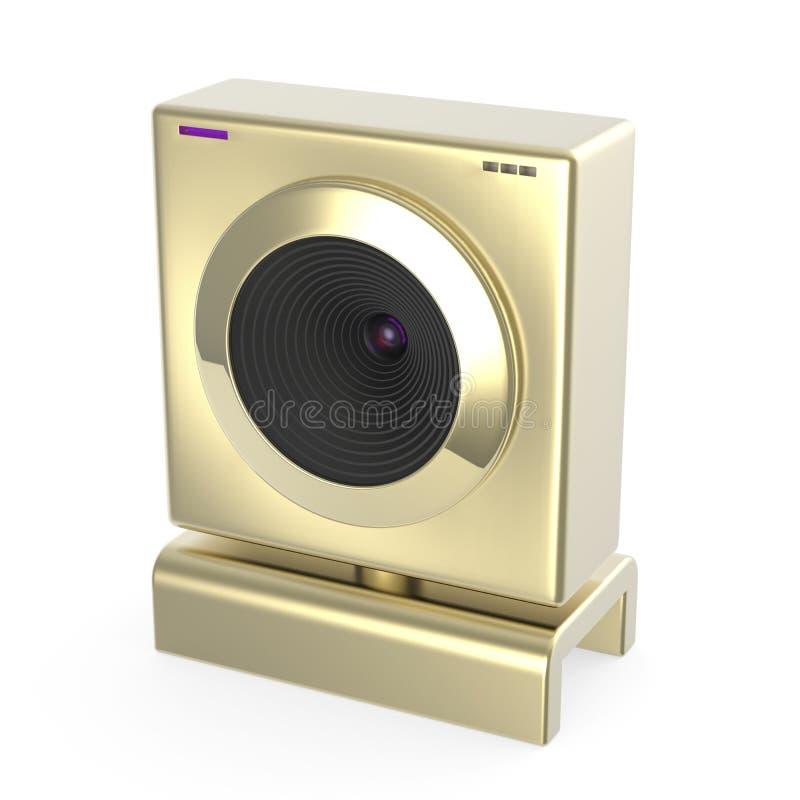Download Golden web cam stock illustration. Image of camera, equipment - 28401175