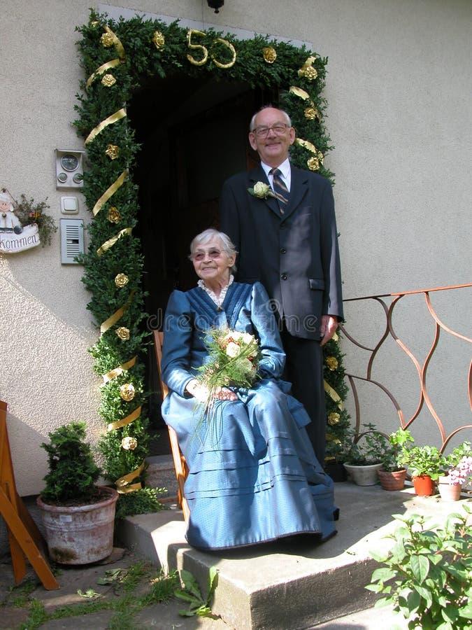 Golden Wedding royalty free stock photography