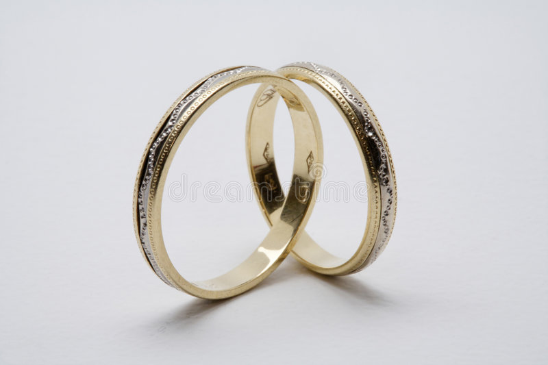 Download Golden wedding rings stock photo. Image of faith, jewelry - 1093320