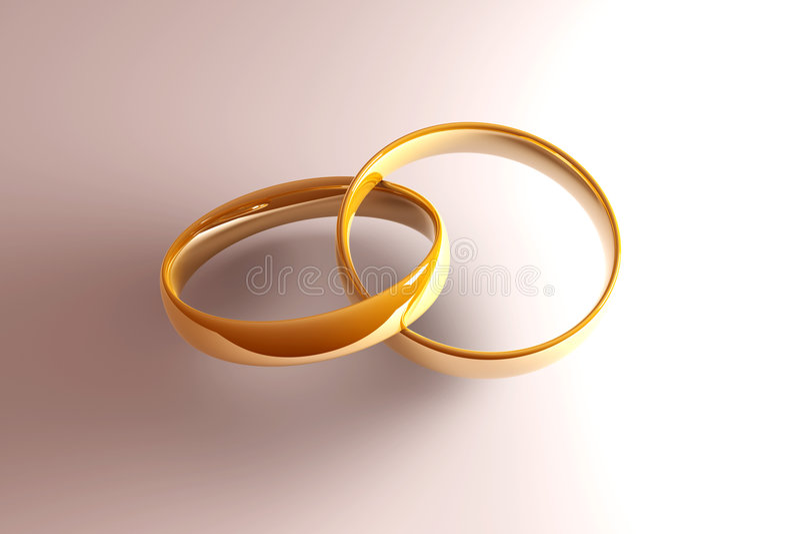 Golden Wedding Rings vector illustration