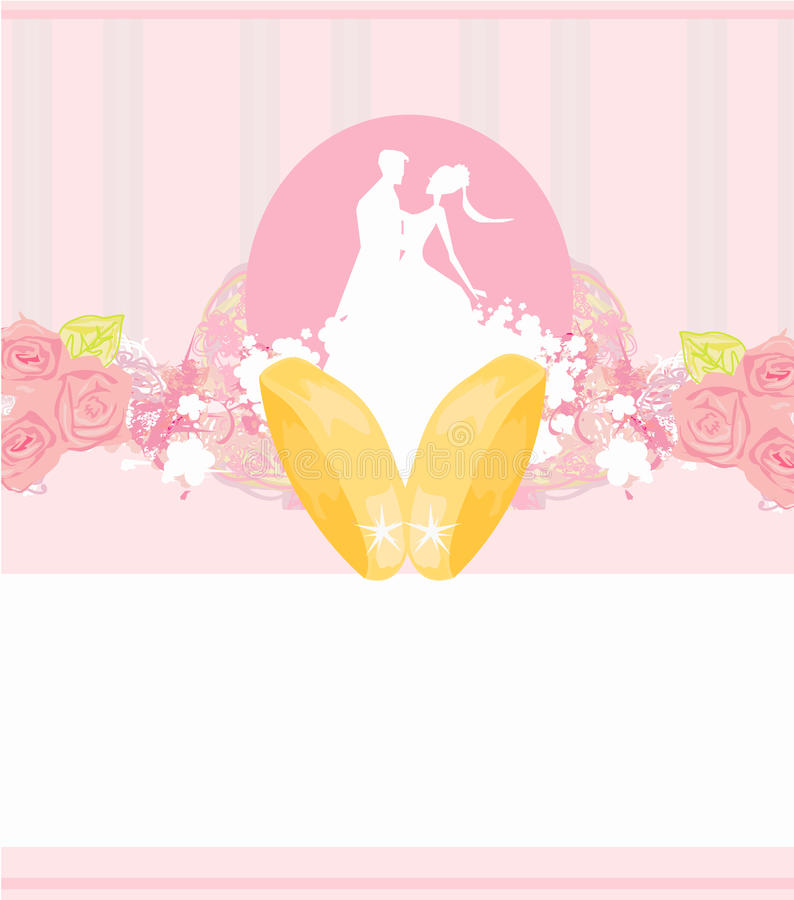 Download Golden Wedding Rings And Wedding Couple Stock Illustration - Image: 33087261