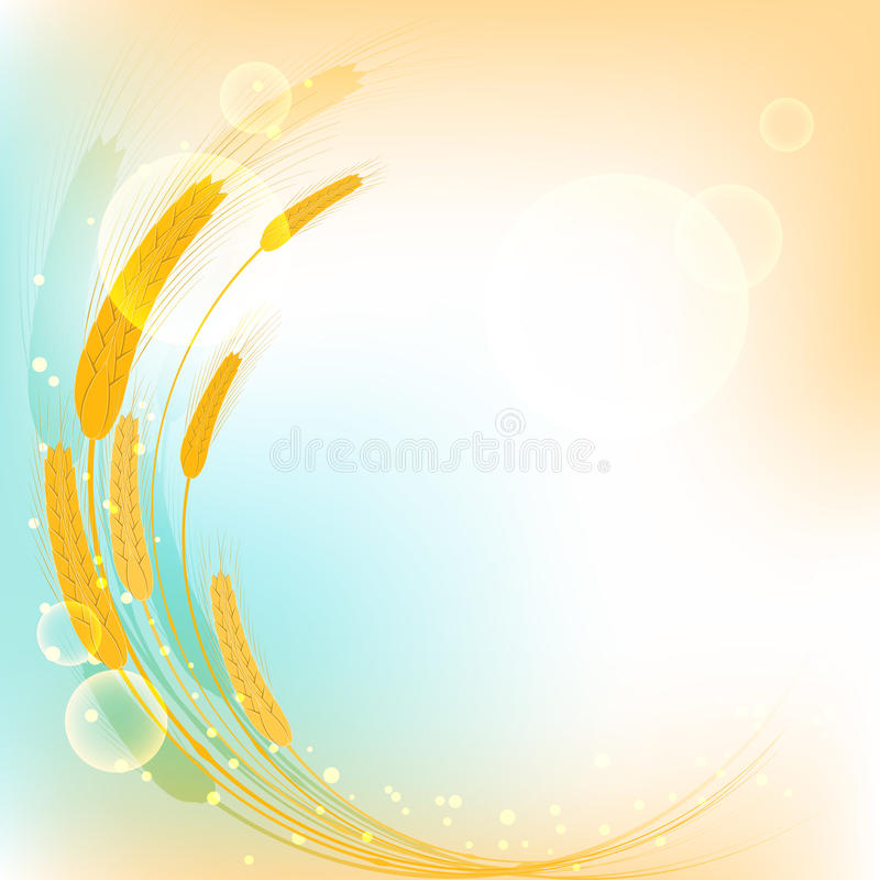 Download Golden Wheat Ears On Colorful Background Royalty Free Stock Images - Image: 33559749