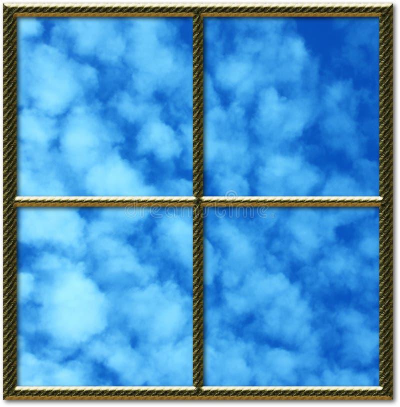 Download Golden window frame stock illustration. Illustration of concept - 467289