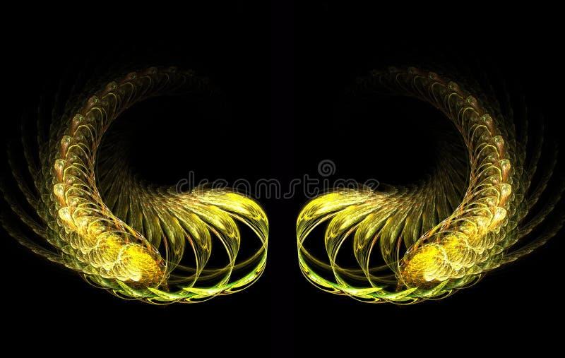 Download Golden Wings stock illustration. Image of math, black - 1059234