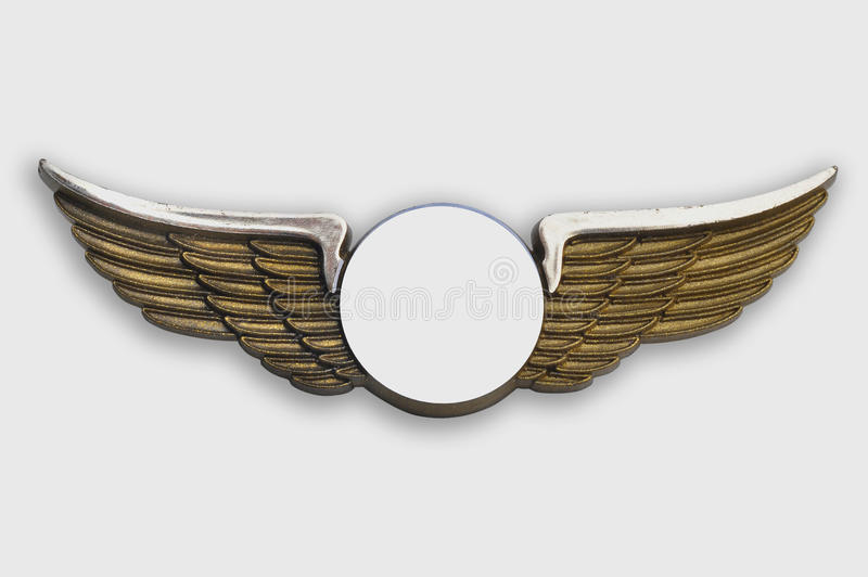 Golden wings, on white background. stock photography