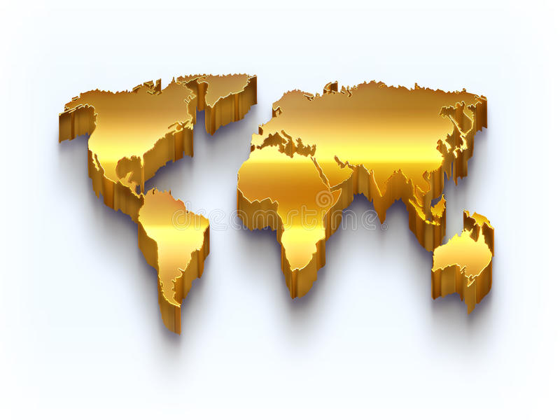 Download Golden World Map Royalty Free Stock Image - Image: 31782146