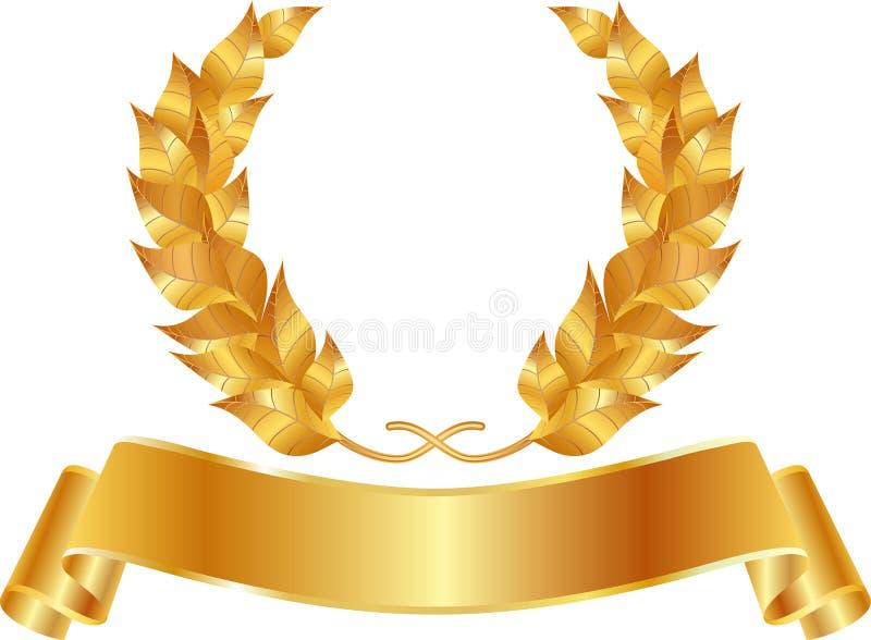 Golden wreath stock illustration
