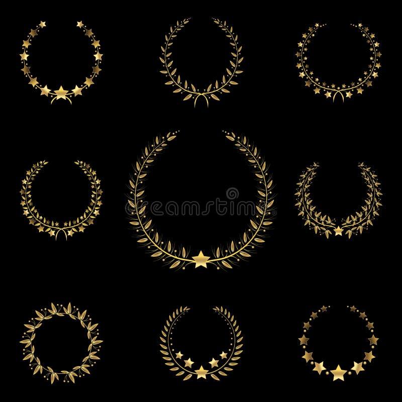 Download Golden Wreath Stock Vector - Image: 43269530