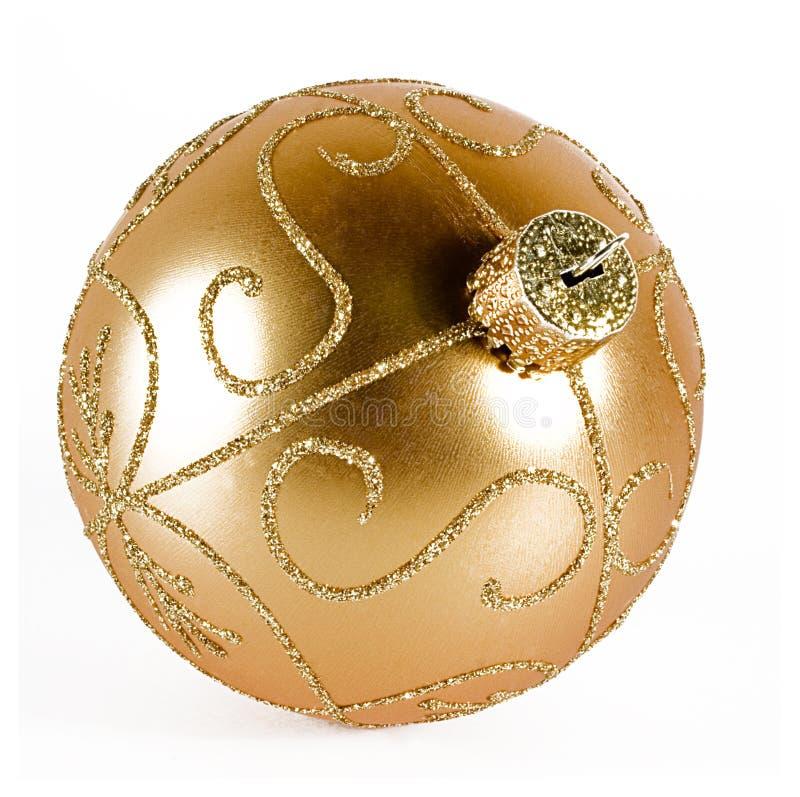 Golden Xmas Ball Royalty Free Stock Photos