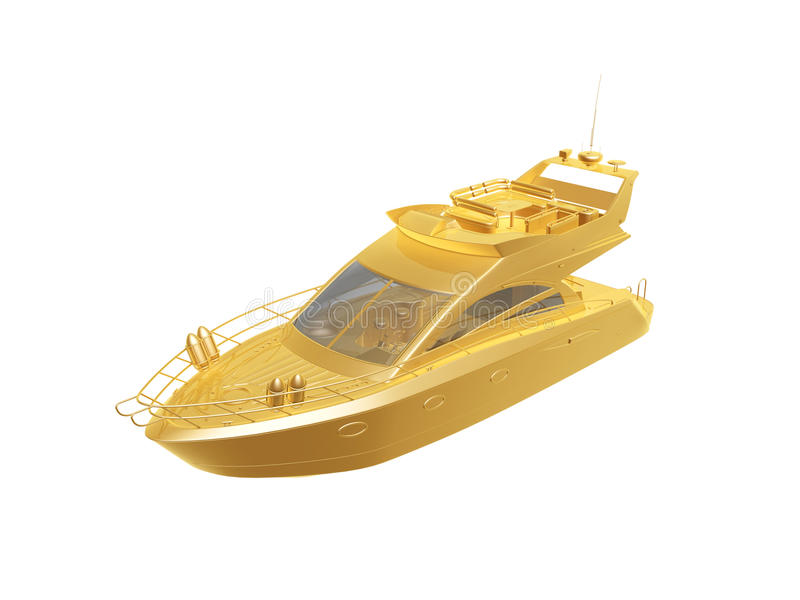 Golden Yacht Stock Images