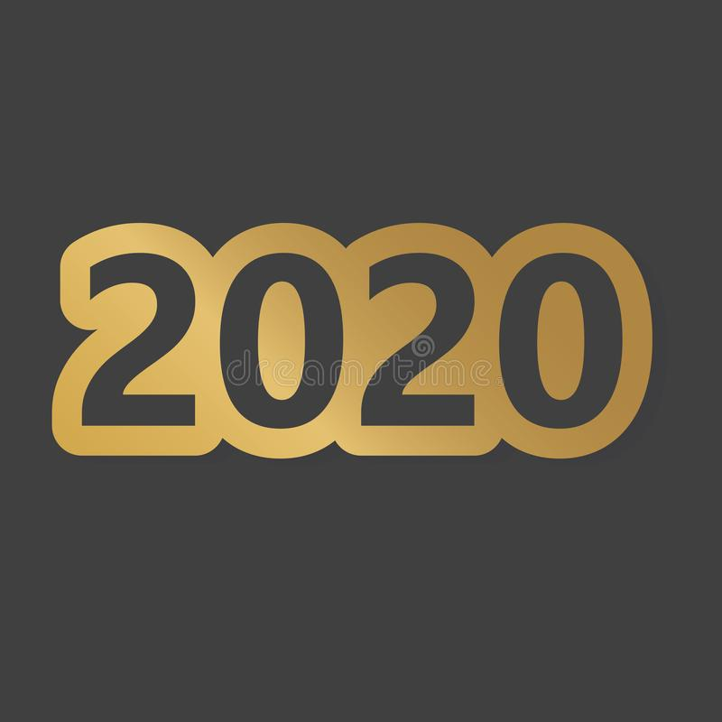 Golden 2020 year concept. Vector illustration stock illustration