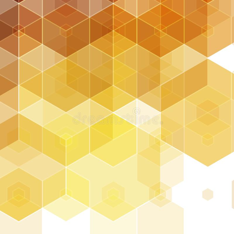 Golden yellow hexagons. mosaic style. presentation layout. eps 10. Golden yellow hexagons. mosaic style. presentation layout vector illustration