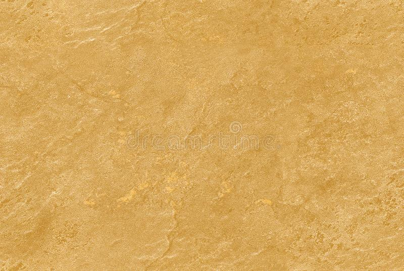 Golden yellow seamless venetian plaster background stone texture. Traditional venetian plaster stone texture grain pattern drawing. Gold grunge texture. Golden royalty free stock photo