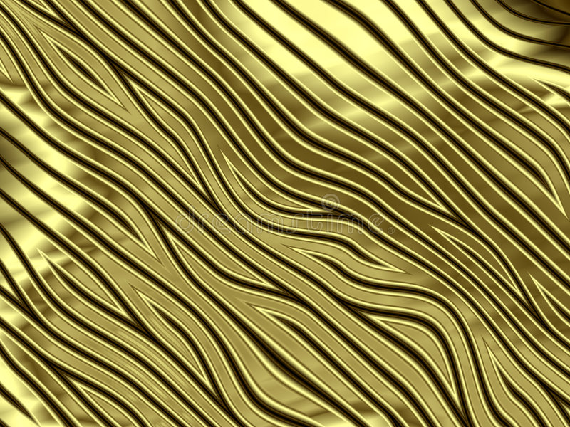 Golden zebra stripes stock image
