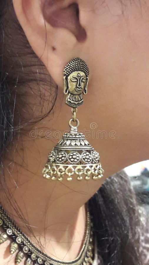 Earing Jewellery royalty free stock photography