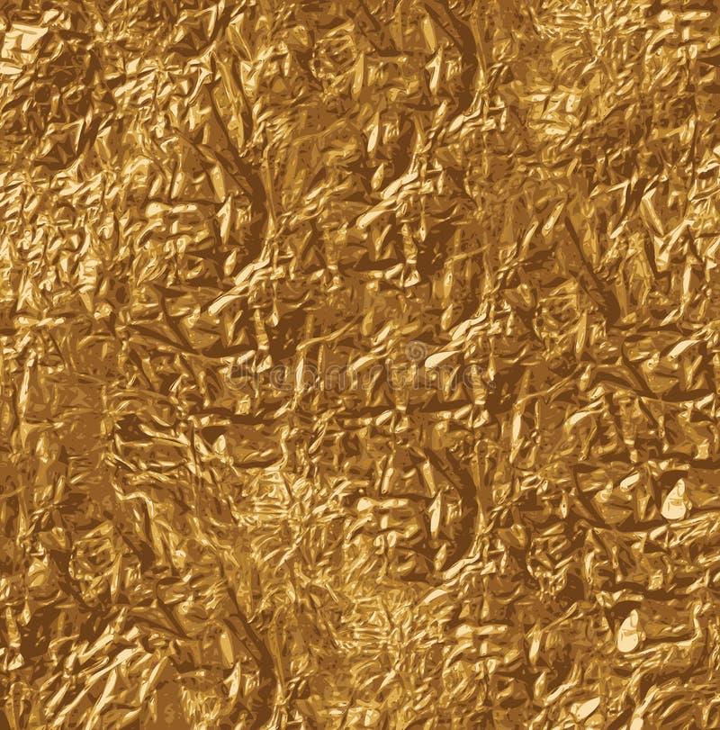 Goldene Beschaffenheit mit Kopienraum vektor abbildung