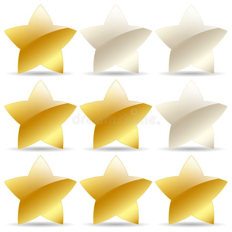 Goldene Bewertungssterne