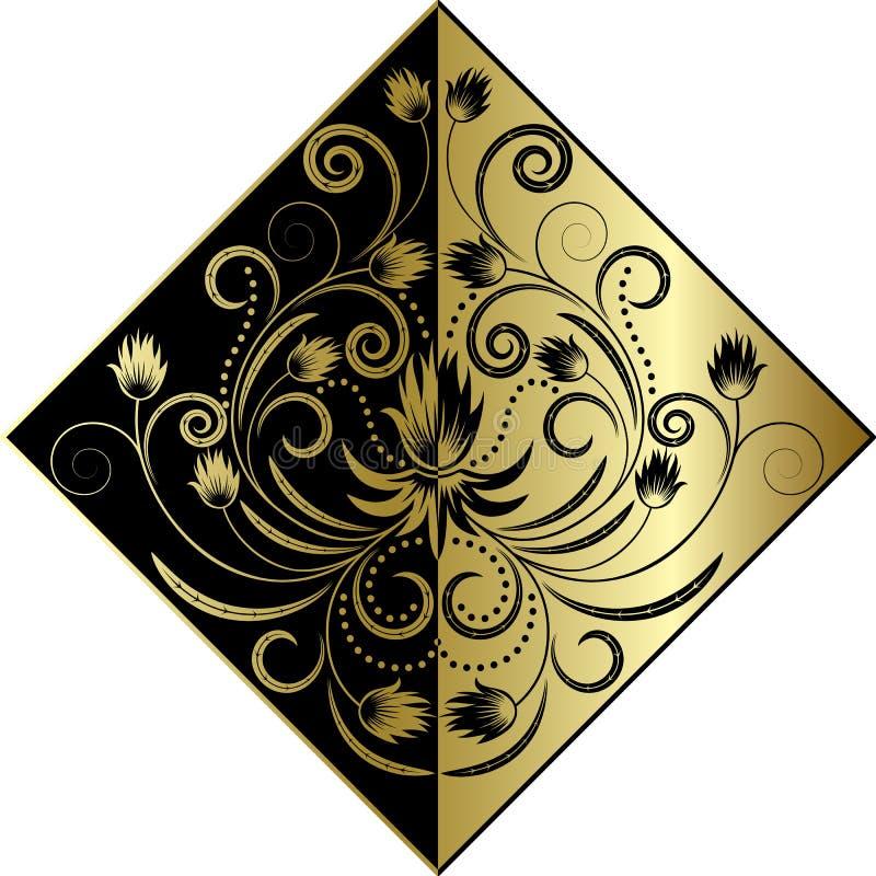 Goldene Blume lizenzfreie abbildung