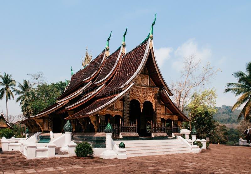 Goldene Buddha-Halle an Wat Xieng-Zapfen, Luang Prabang - Laos stockbilder