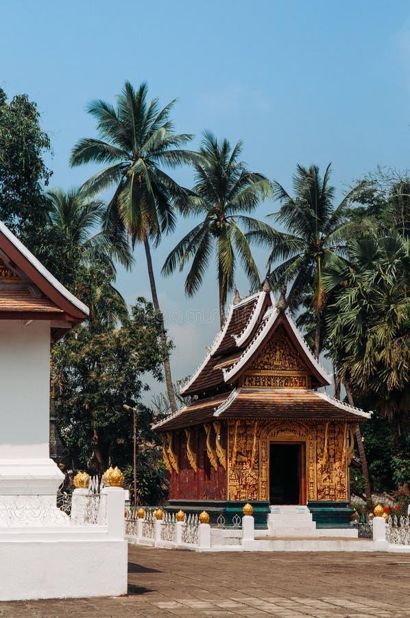 Goldene Buddha-Halle an Wat Xieng-Zapfen, Luang Prabang - Laos lizenzfreies stockfoto