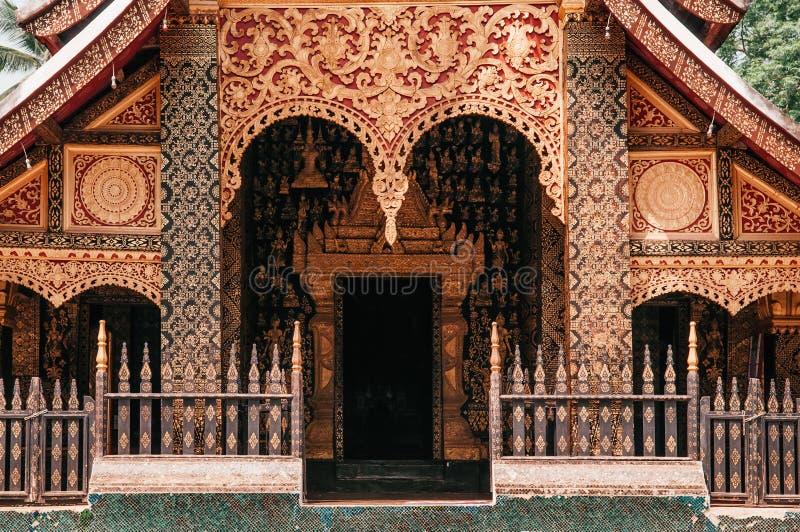 Goldene Buddha-Halle an Wat Xieng-Zapfen, Luang Prabang - Laos stockfoto