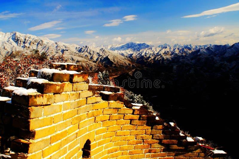 Goldene Chinesische Mauer Stockfoto