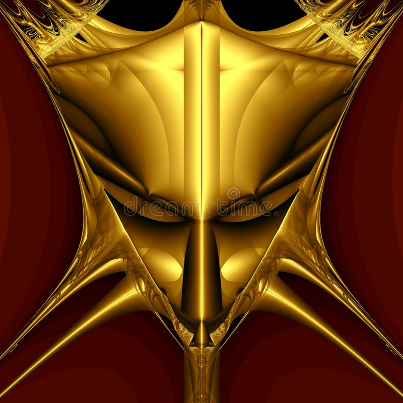 Goldene Dämonschablone stock abbildung