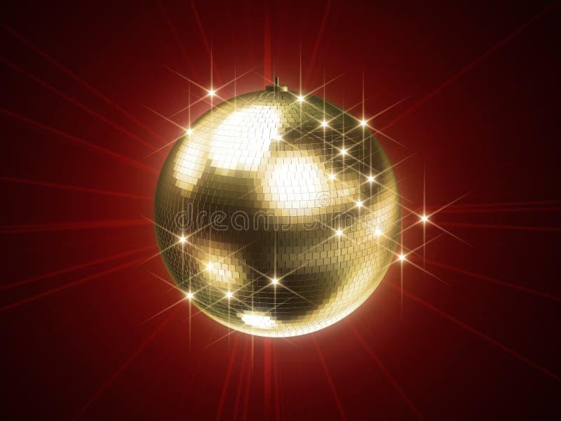 Goldene Discokugel lizenzfreie abbildung