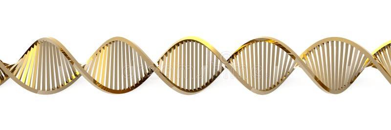 Goldene DNA-Schnecke lizenzfreie abbildung