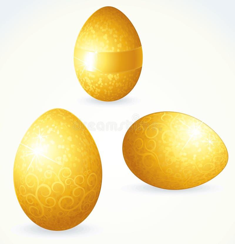 Goldene Eier stock abbildung
