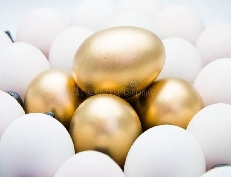 Goldene Eier lizenzfreie stockfotos