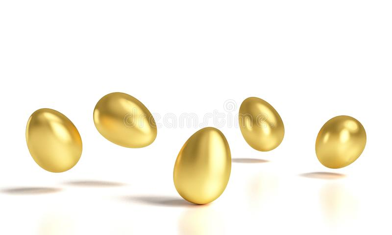 Goldene Eier 3d stock abbildung