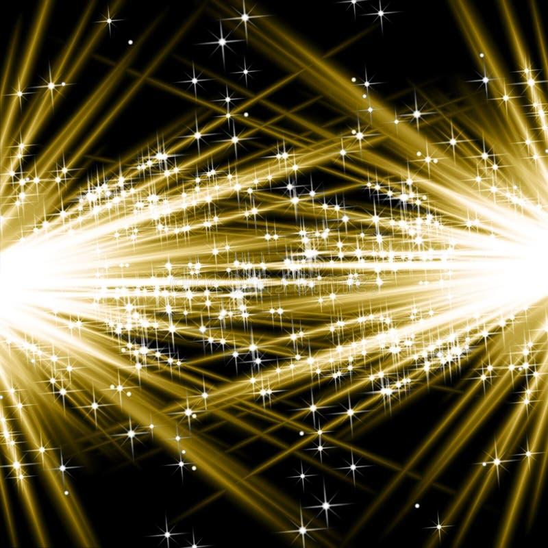 Goldene Explosionen vektor abbildung