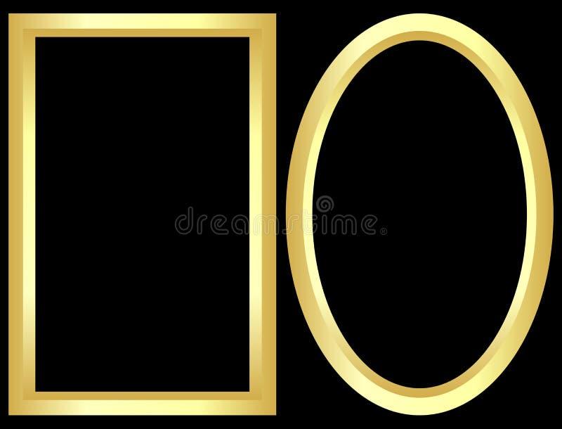 Goldene Felder stock abbildung