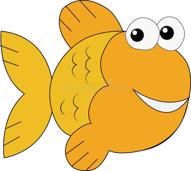 Goldene Fisch-Karikatur-Kunst lizenzfreie stockfotos