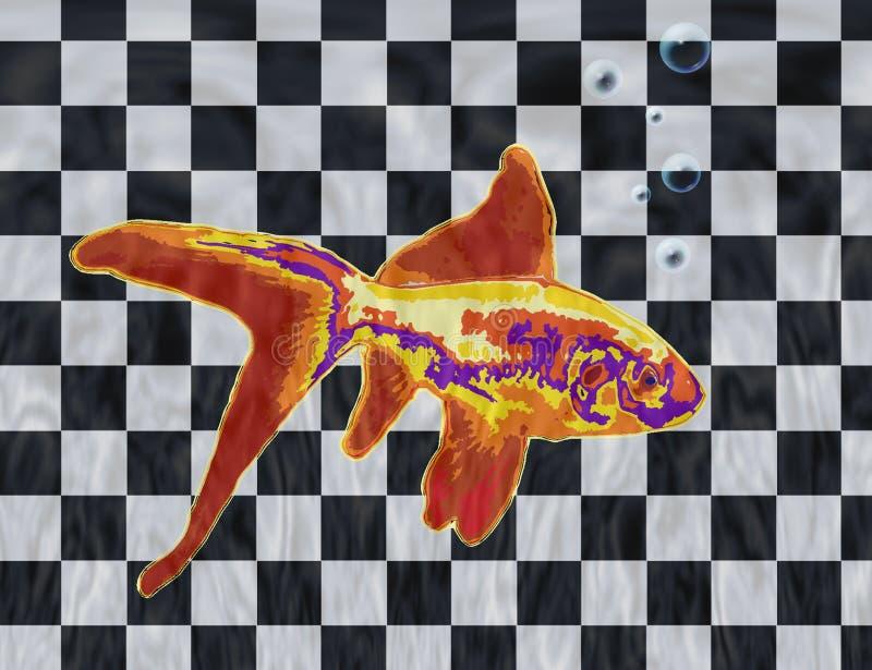 Goldene Fische stock abbildung