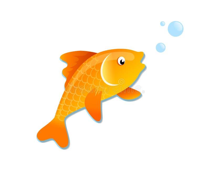 Goldene Fischkarikatur vektor abbildung