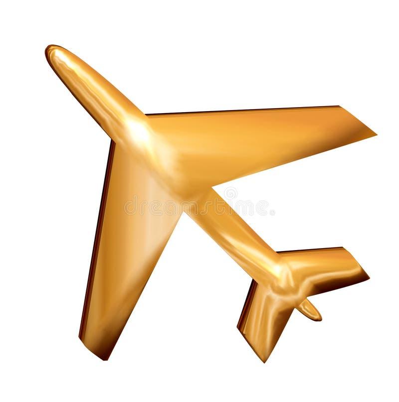 Goldene Flugzeuge vektor abbildung
