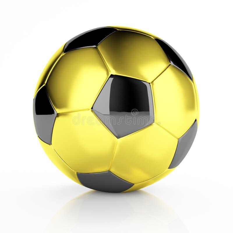 Goldene Fußballkugel lizenzfreie abbildung