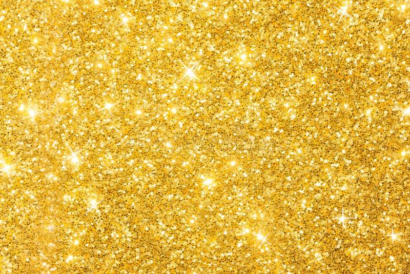 Goldene Funkeln-Hintergrund-Fahne lizenzfreies stockbild