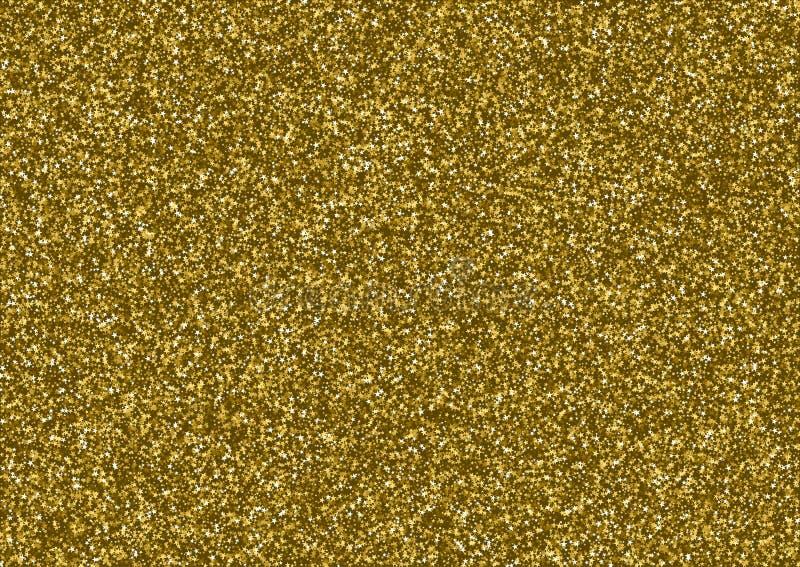 Download Goldene Funkelnbeschaffenheit, Die Aus Kleinen Sternen Besteht Stock Abbildung - Illustration von funkeln, glittery: 90231934