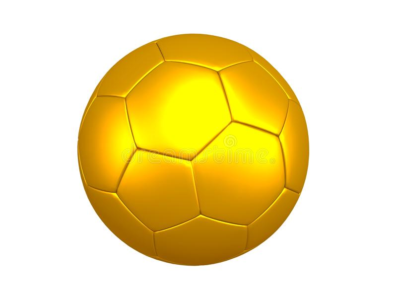 GOLDENE FUSSBALL-KUGEL stock abbildung