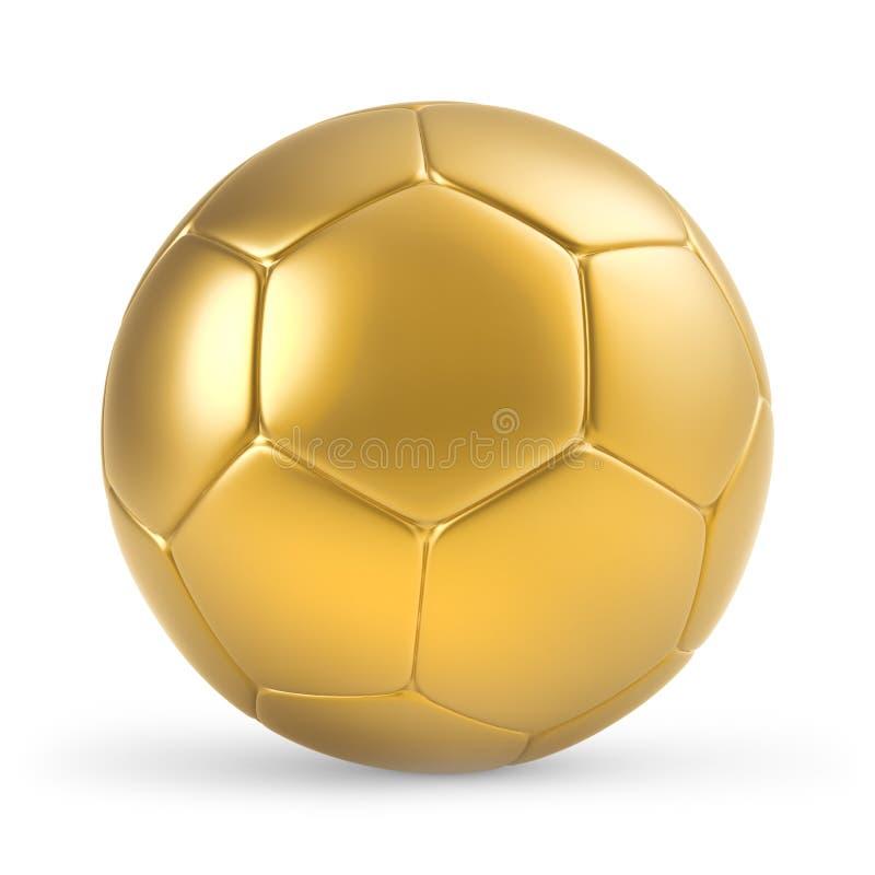 GOLDENE FUSSBALL-KUGEL lizenzfreie abbildung