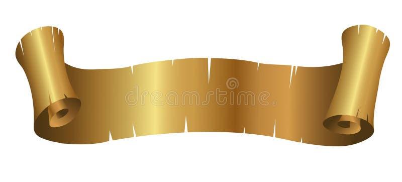 Goldene gelockte Fahne vektor abbildung