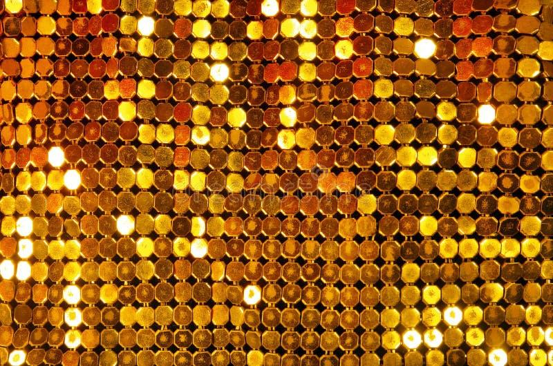Goldene glänzende Masche stockfoto
