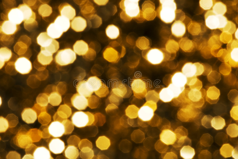 Goldene glühende Leuchte   lizenzfreies stockbild