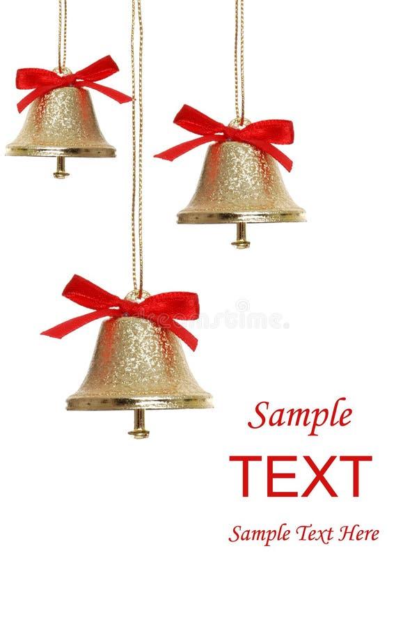 Goldene Glocken lizenzfreie stockbilder