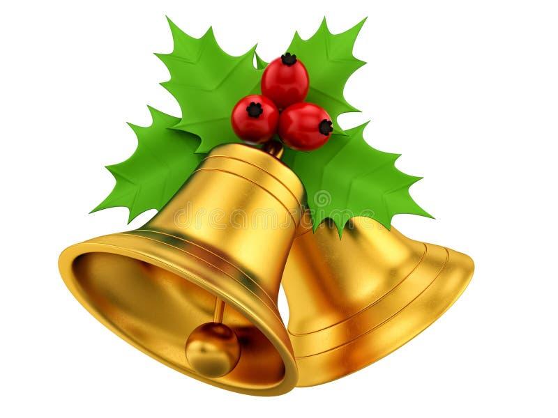 Goldene Glocken lizenzfreie abbildung