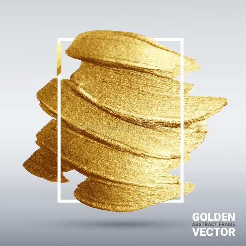 Goldene Grunge Beschaffenheit Vektorpinselstrich Ein gl?nzendes festliches Muster Heller Hintergrund vektor abbildung