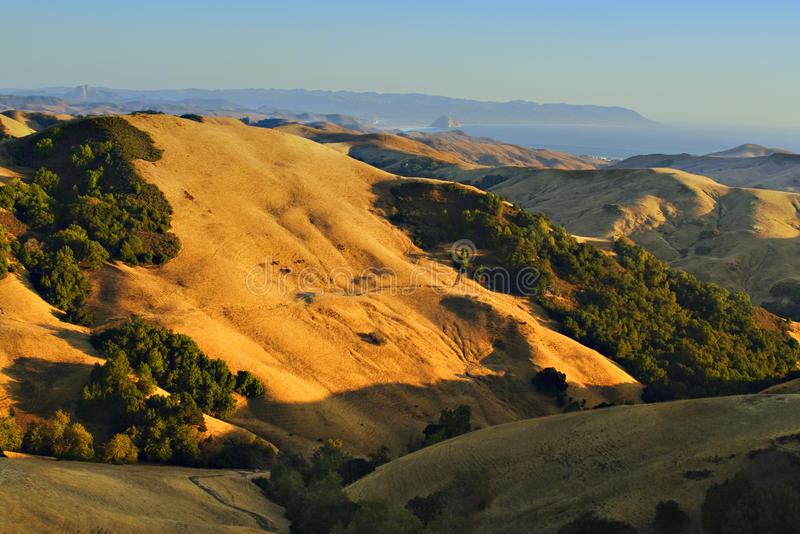 Goldene Hügel von Kalifornien lizenzfreies stockfoto
